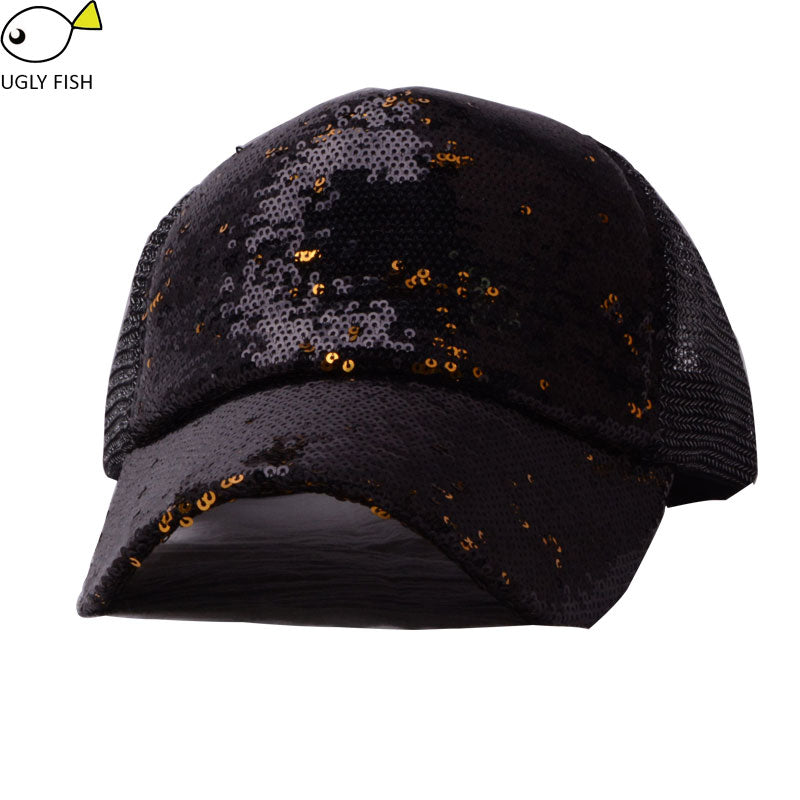 sequin hat  baseball cap women summer black glitter baseball cap mesh dad hat for women mesh hat mesh cap