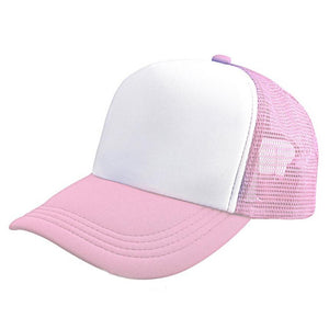 snowshine4 # 3003 2020 Polyester and Nylon Adjustable Mesh Baseball Cap Hat Blank Curved Visor Hat Adjustable Pure Color