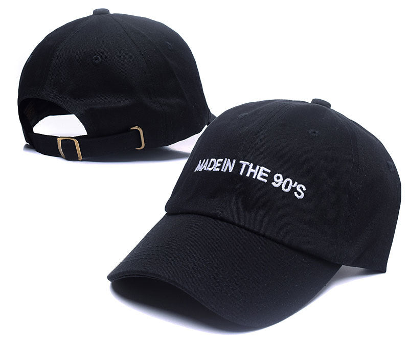 unisex fashion dad hat made in the 90 s emberoidery baseball cap 2 colors available good quality snapback hats brand hat caps