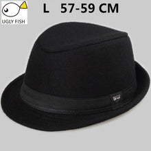 Load image into Gallery viewer, vintage fedora hat  black fedora hats for men wo felt hat mens hats fedoras