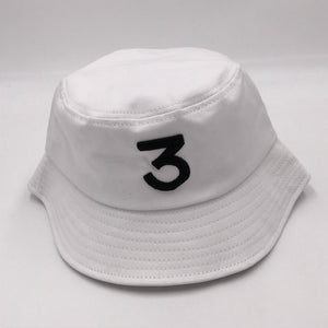 922a5971313 black CHANCE 3 bucket hat hip hop women white embroidery the rapper fishing  cap unisex sun