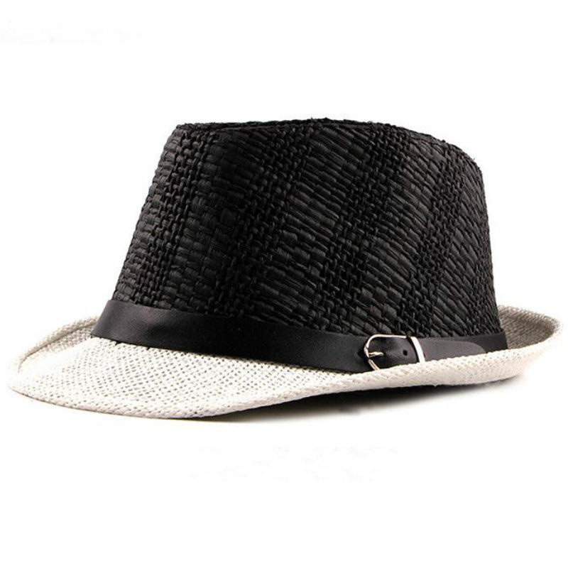 casual men straw panama hat wide brim male fedoras solid women flat to –  oePPeo - Master of Caps   Hats fac4365ca4a