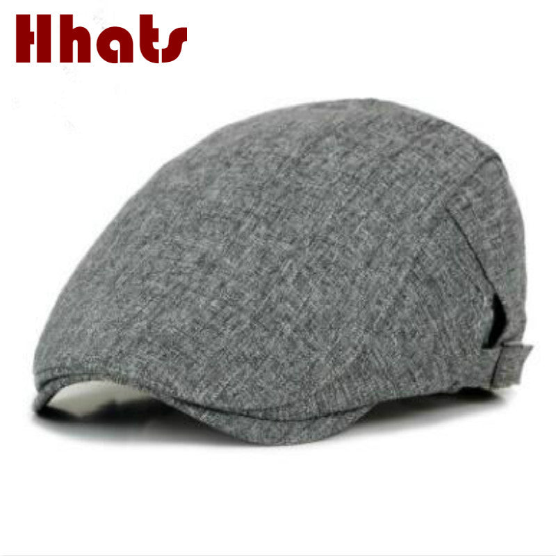 male female solid color cot spring summer beret hat adjustable sunscreen flat cap breathable peaked cap visor