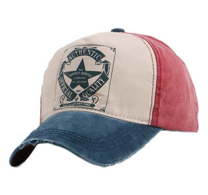 wholesale cheap unisex fashion baseball cap star design pattern casual cotton snapback 58 CM adjustable girl boy sports hats