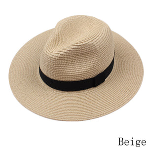 women and men summer floppy straw sun hats panama beach hats for women tea party vogue classic black girdle jazz kids sun caps