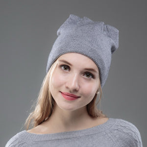 women cashmere beanies new wo winter hat soft thermal thick GOOD QUALITY  skullies woman girl outdoor c4789553a5e