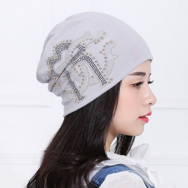 ad43e288d4a women girl beauty brand hat cap designer luxury style rhinestone ...