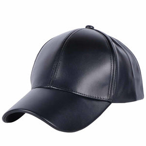 women men new cap solid casual Hat  Good quality thick faux leather solid color sports baseball caps female male casquette