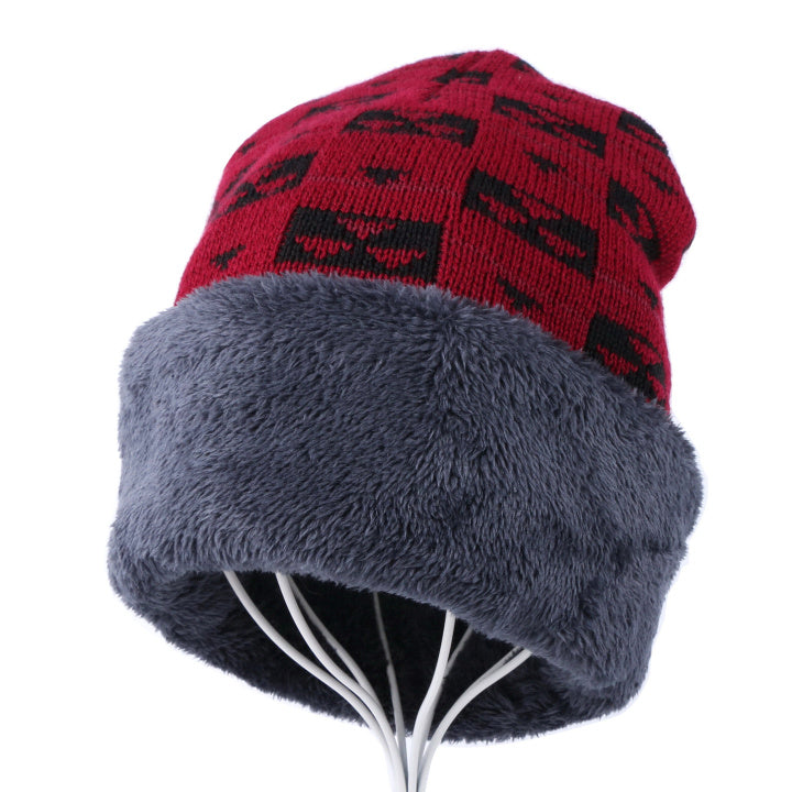 women's men's winter beanies cheap winter hat gorros skullies knitted plaid design solid thick warmer outdoor winter hats