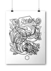 Acanthe And Geometric Shapes  Poster:Wildoy