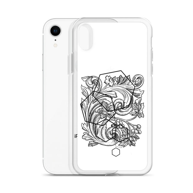 Acanthe And Geometric Shapes iPhone Case