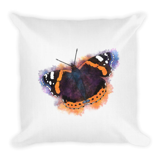 Red Admiral Butterfly Pillow
