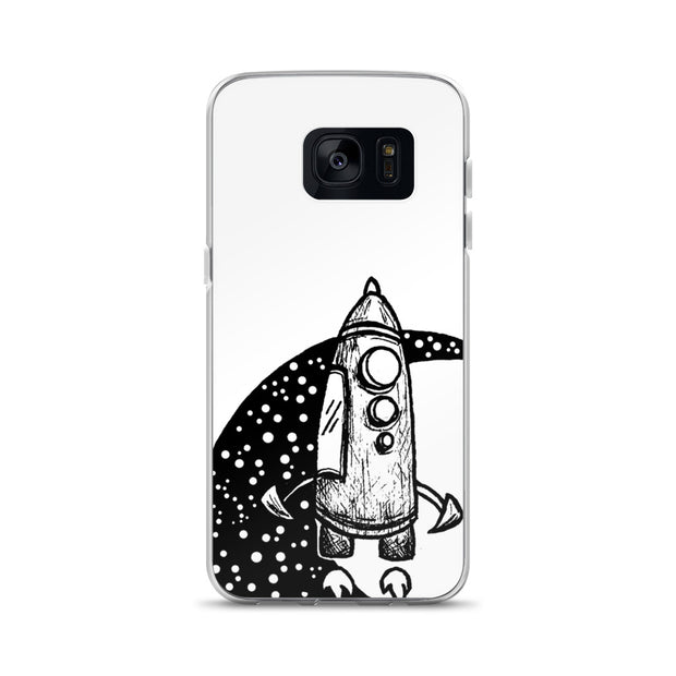 Moon Spaceship Samsung Case