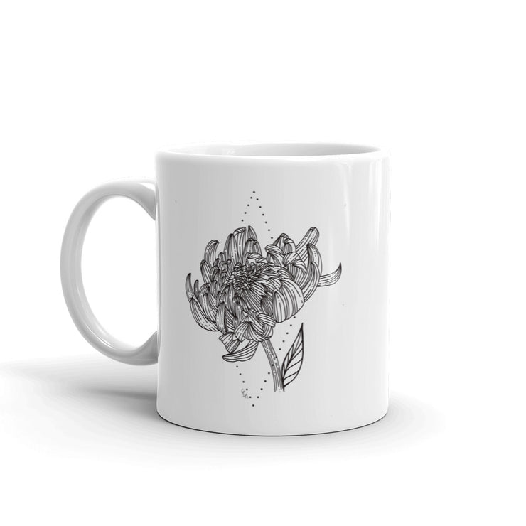 Drawing Of Chrysanthemum Mug