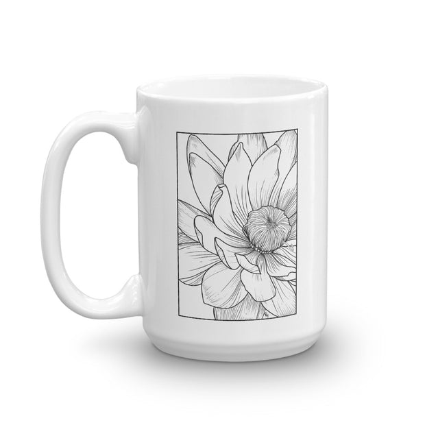 Flower Detail Drawing Mug:Wildoy
