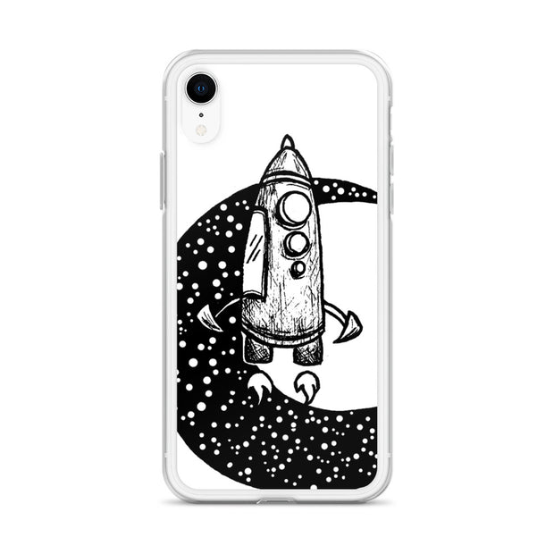 Moon Spaceship Iphone Case