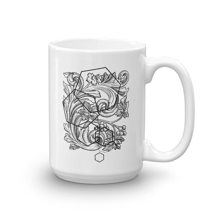 Acanthe And Geometric Shapes Mug