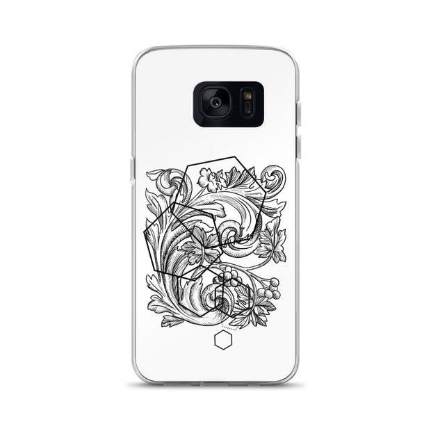 Acanthe And Geometric Shapes Samsung Case:Wildoy
