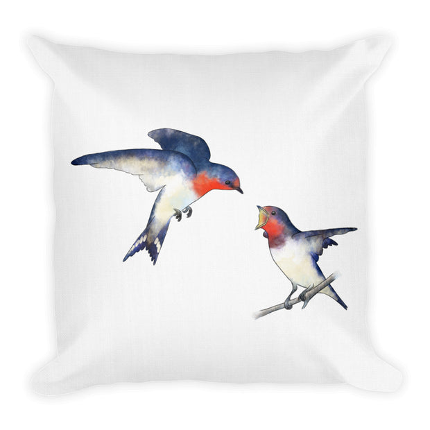 Swallow Mother And Baby Pillow