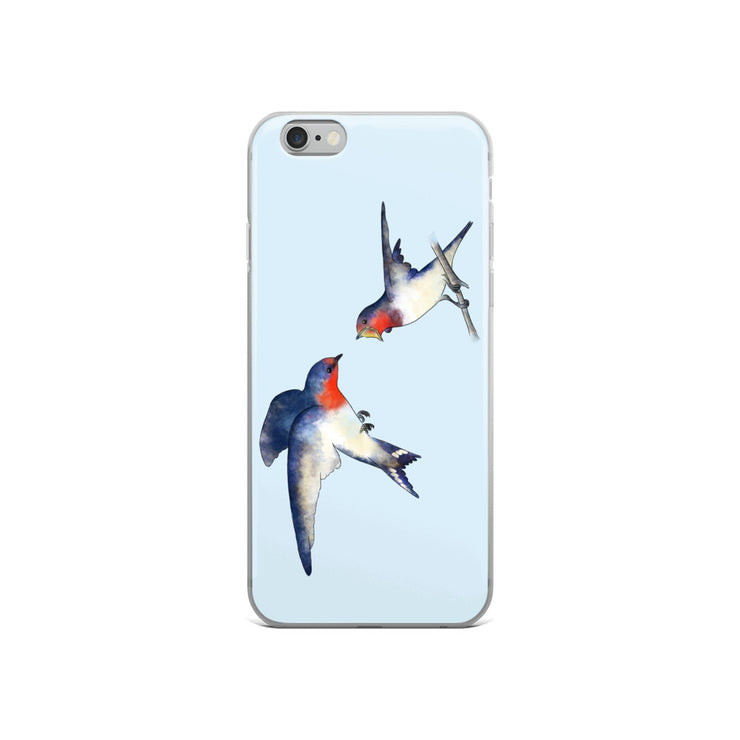 Swallow Mother And Baby iPhone Case