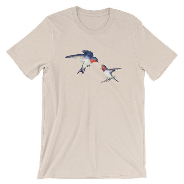 Swallow Mother And Baby T-Shirt