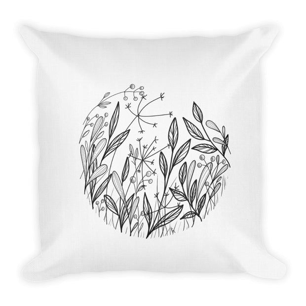Composition With Wildflowers Pillow