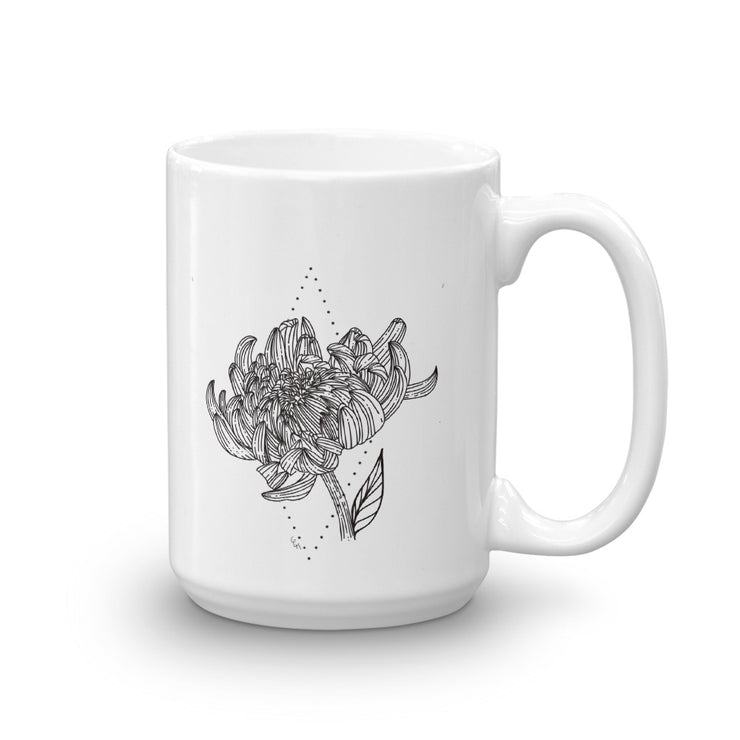 Drawing Of Chrysanthemum Mug:Wildoy