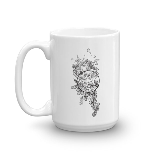 Peony And Geometric Shapes Mug