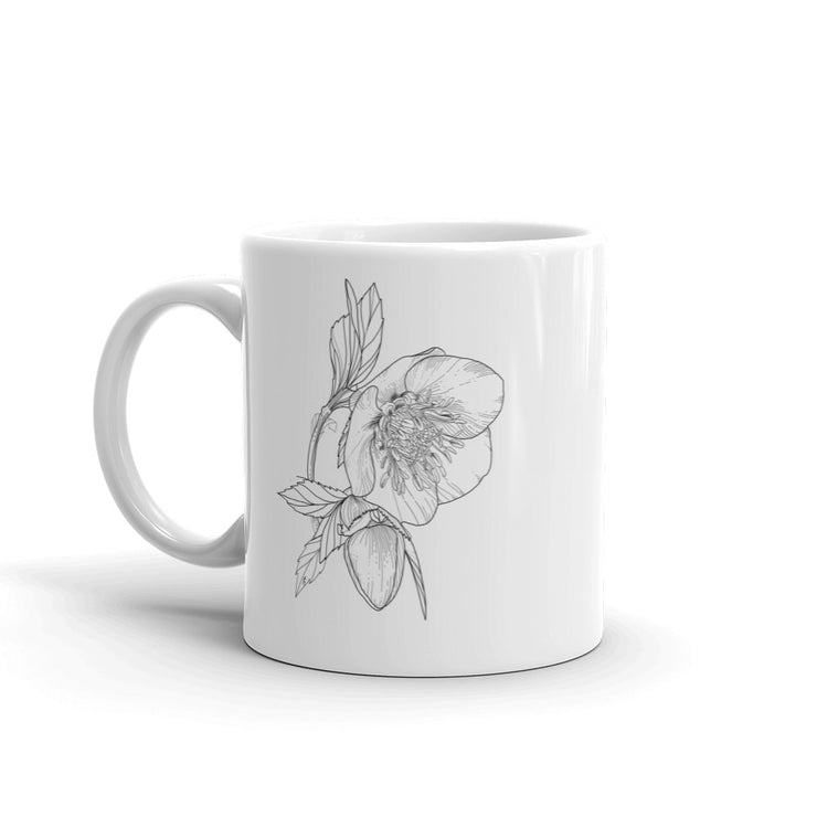 Drawing Of Hellebore Mug