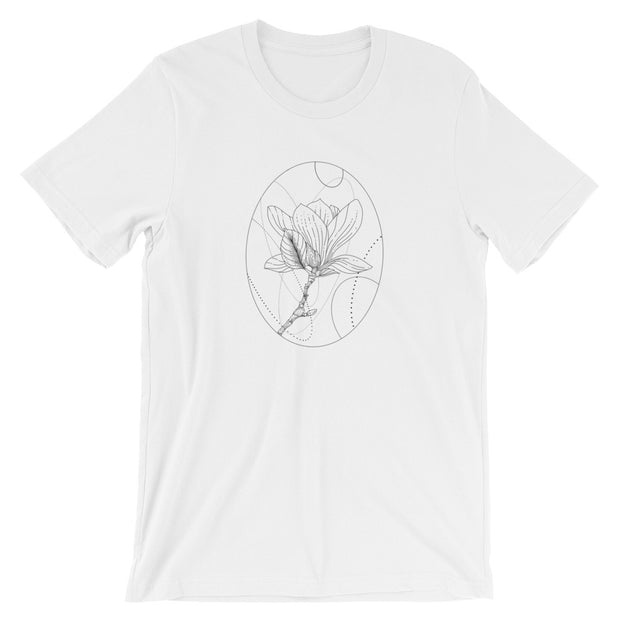Magnolia And Geometric Shapes T-Shirt