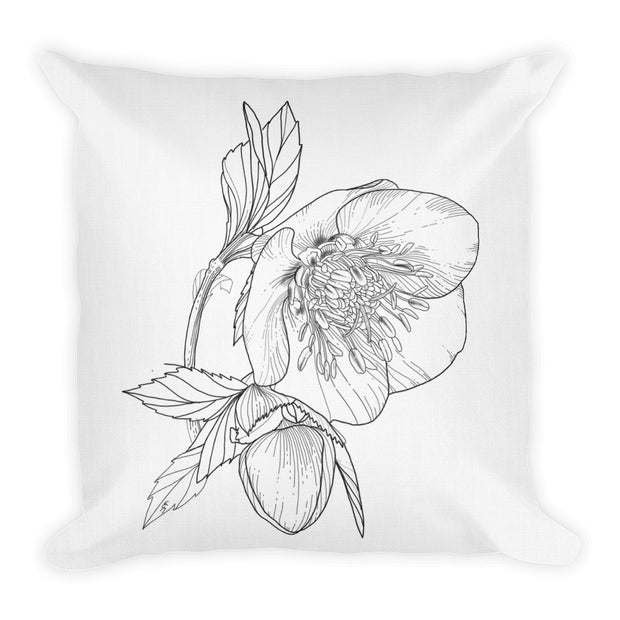 Drawing Of Hellebore Pillow:Wildoy