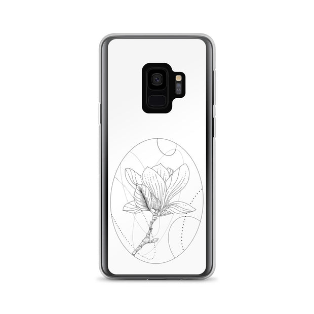 Magnolia And Geometric Shapes Samsung Case