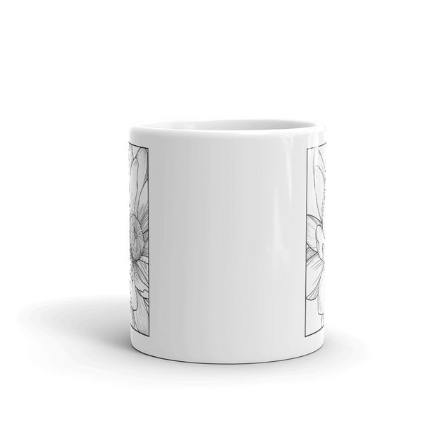 Flower Detail Drawing Mug