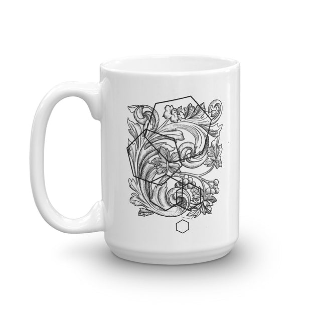 Acanthe And Geometric Shapes Mug:Wildoy