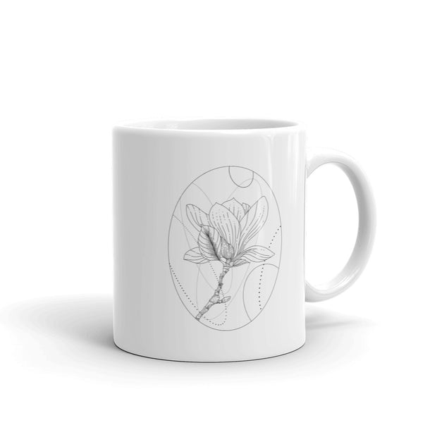 Magnolia And Geometric Shapes Mug:Wildoy