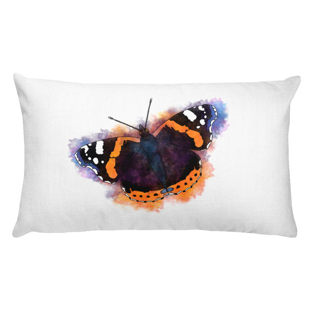Red Admiral Butterfly Pillow:Wildoy