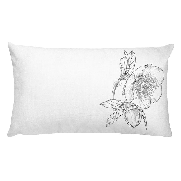 Drawing Of Hellebore Pillow