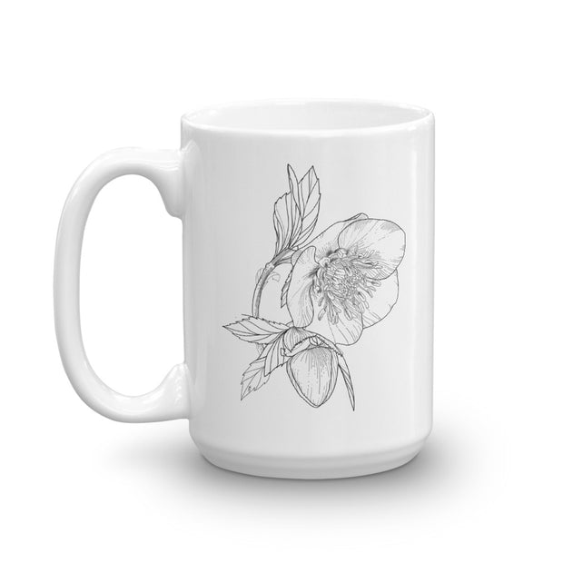 Drawing Of Hellebore Mug:Wildoy