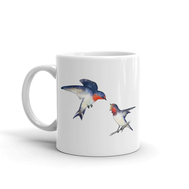 Swallow Mother And Baby Mug