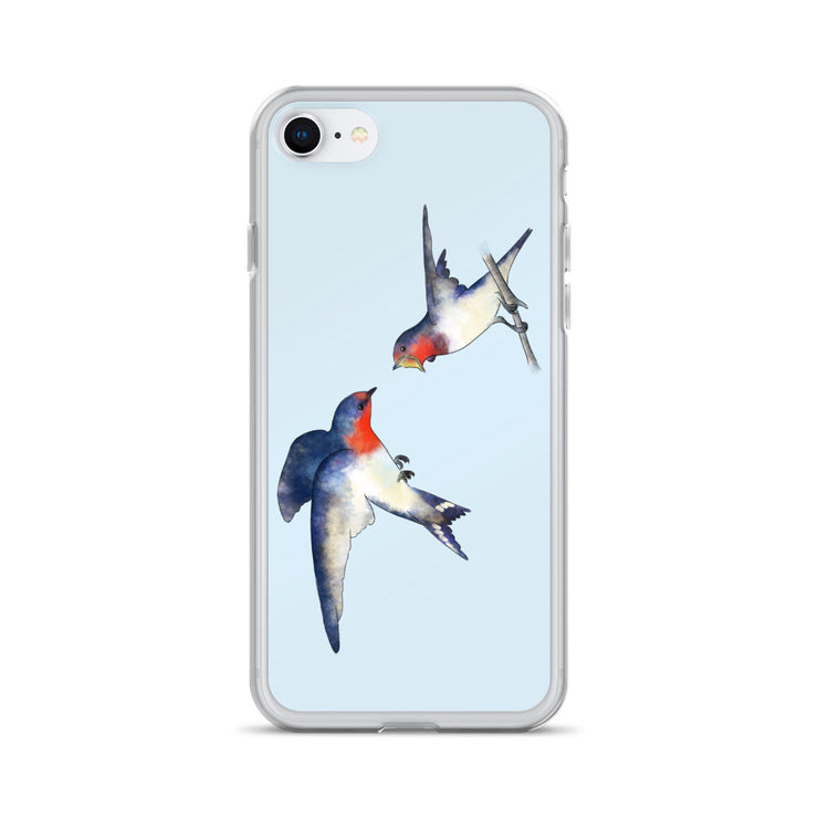 Swallow Mother And Baby iPhone Case:Wildoy