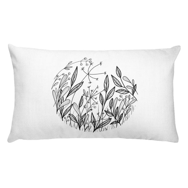Composition With Wildflowers Pillow:Wildoy