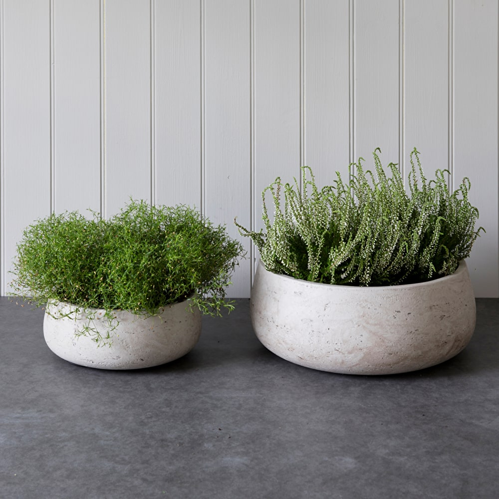Set Of 2 Stratton Cement Bowls