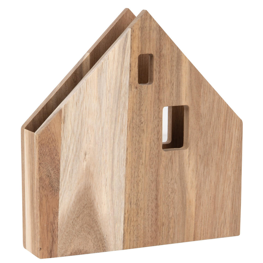 Large Wood Napkin House