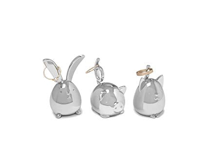 Squiggy Cat Ring Holder - Chrome