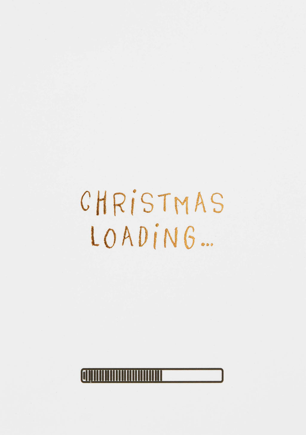 Christmas Loading Postcard