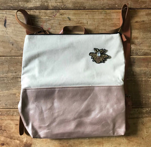 Cream & Rose Gold Back Pack
