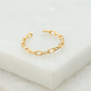 Gold Plated Sterling Silver Chain Ring