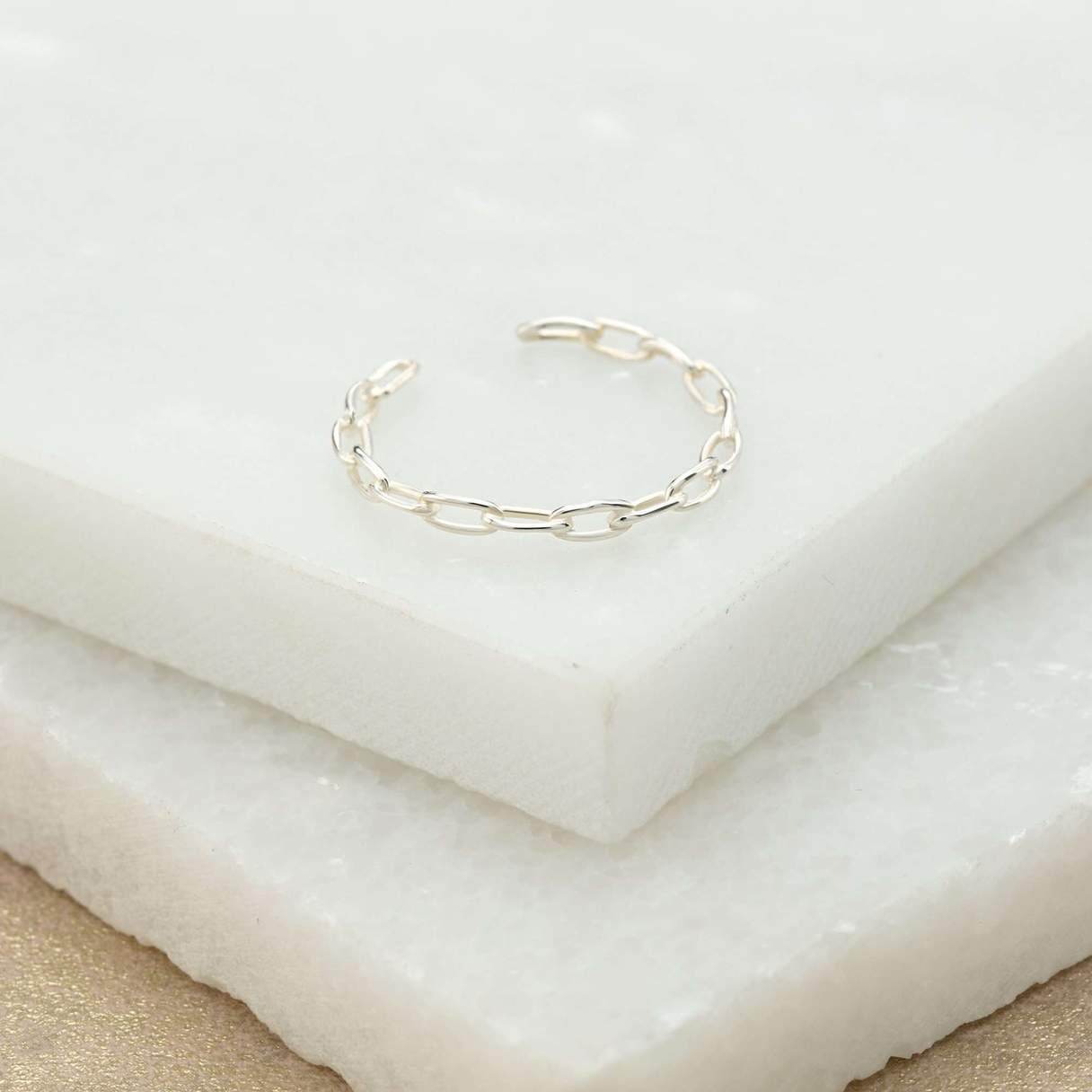Adjustable Chain Ring - Silver