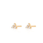 Teeny Audrey Stud Earrings - Gold