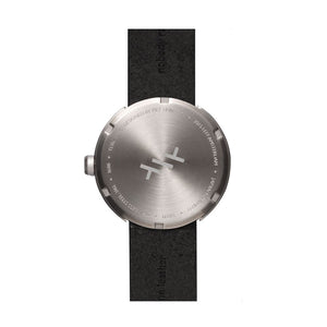 Black Leather & Steel Tube Watch D52 - LEFF Amsterdam